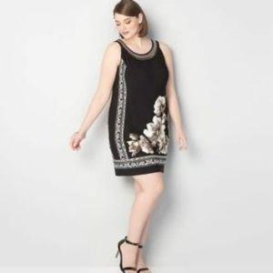 Womens Dress-STUDIO ONE YORK-black/off-white f